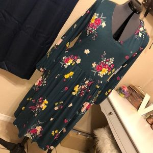 Green Floral Old Navy Dress